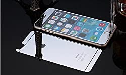 Exoic81 Electroplated Mirror Front + Back Tempered Glass Screen Protector For Apple iPhone 5 / 5S / 5G - SILVER