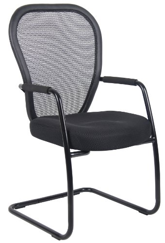 Boss Mesh Guest Chair with Black Sled Base Without Head Rest