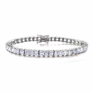 Bling Jewelry CZ Asscher Tennis Bracelet