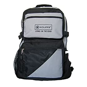 K-Cliffs Gray w/ Black Outdoor Backpack Sports Backpack Hiking Backpack School Backpack