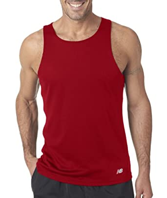 Men's athletic workout singlet. (Cherry Red) (Small)