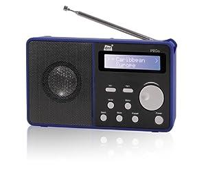 DNT IP2go Tragbares Internet-Radio (UKW-Tuner, Lautsprecher) blau