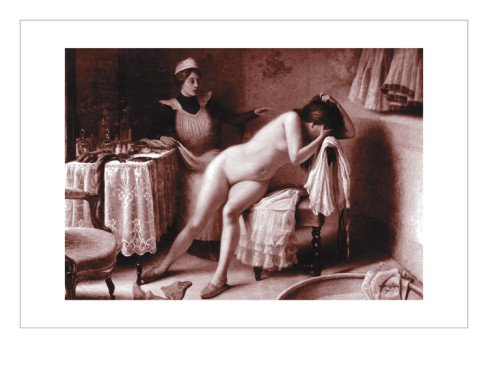 Crying Nude Wall Decal 24 x 18 in (Without border: 17.5 x 12.5 in)