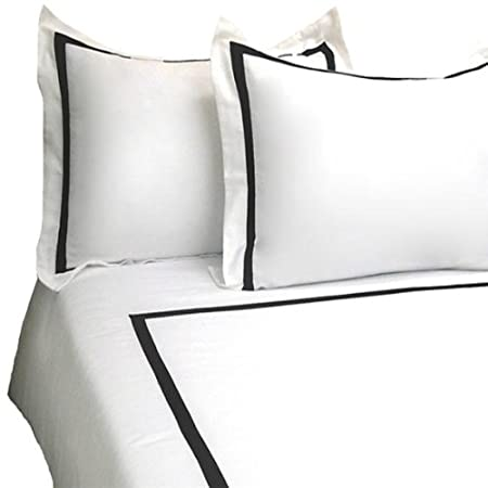 MARRIKAS 3 PC 300TC Cotton KING WHITE-BLACK Duvet Cover Set at Sears.com