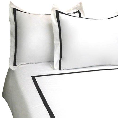 Marrikas 2 Pc 300Tc Cotton Twin Black White Duvet Cover Set front-844511