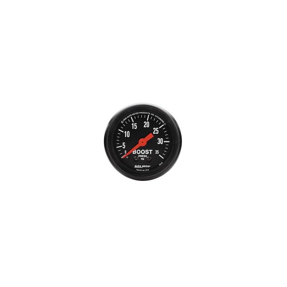 Auto Meter 5904 ES 2-1//16 0-35 PSI Mechanical Boost Gauge