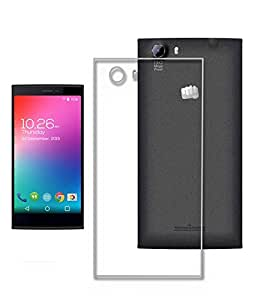 Hello Zone Exclusive Soft Transparent Crystal Clear Back Cover Back Case Cover For Micromax Canvas Blaze Q400