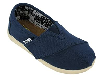 Toms - Summer Classics Tiny Toddlers Shoes In Navy Canvas, Size: 4M US Toddler, Color: Navy Canvas