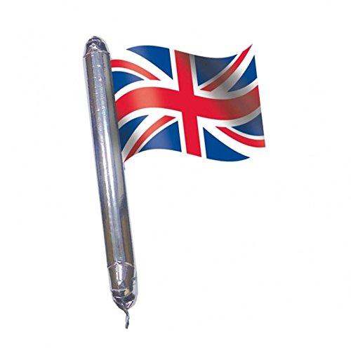 GB Union Jack British Flag Brit Rally-Palloncino a forma di pallone da Rugby, 43 x 64 cm, da riempire con aria