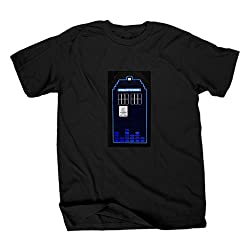 Doctor Who TARDIS Sound Activated LED Light Up Adult T-Shirt (Adult X-Large)