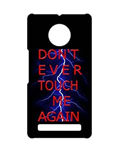 Mobifry Back case cover for Micromax Yu Yuphoria Mobile ( Printed design)