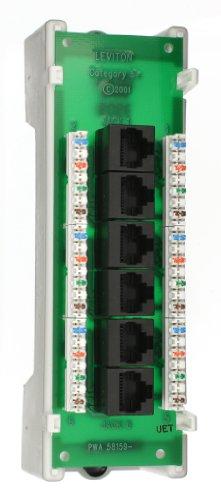 Leviton 47605-C5B Category 5 Voice And Data Module 6-Port, Bracket