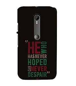 EPICCASE killing quotes Mobile Back Case Cover For Moto X Force (Designer Case)