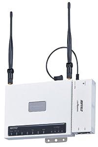 BUFFALO AirStationPro 無線LANアクセスポイント ハイゲインアンテナ&PoE受電アダプタセット WLAH-HG-G54/R