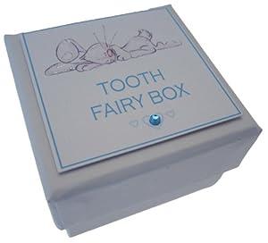 WHITE COTTON CARDS - Cajita para guardar dientes, diseño de conejito, color azul marca white cotton cards - BebeHogar.com