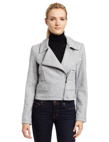 Mac & Jac Women's Boiled Wool Motorcycle Jacket