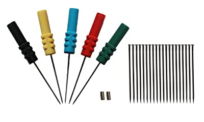 Hantek Back Pinning Probes/Needle/ Piercing Probes Set(Set of 5,Assorted Colors)