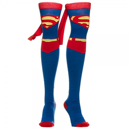 "Superman ""Suit Up"" Cape Thigh High Socks - Womens'"