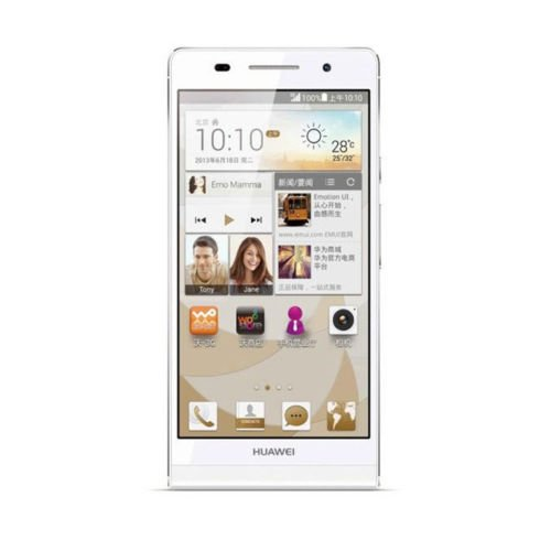 "Unlocked New Original Huawei Ascend P6S U06 4.7"" Ips Quad Core Android 4.2 2Gb Ram 16Gb Rom Dual Sim 3G Smartphone Mobile Cell Phone (White)"