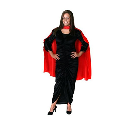 Unisex Red Satin Costume Cape 36""