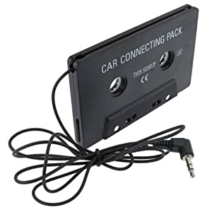 eForCity Black Car Audio Cassette Adapter compatible with the New Apple® iPhone® 5