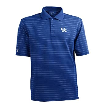 NCAA Kentucky Wildcats Elevate Desert Dry Lite Polo Mens by Antigua