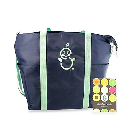 Baby Food Maker Insulated Travel Tote with Pocket Guide - By Sage Spoonfuls