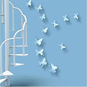 Wall Decor - 3D DIY Wall Stickers Butterfly Mirror Surface Home Decor Room Decorations Medium Silver from Mark8shop
