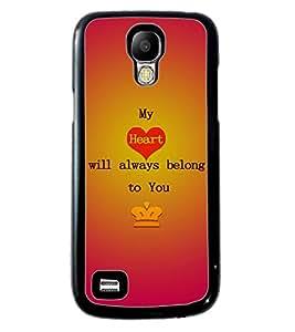 Fuson 2D Printed Love Designer back case cover for Samsung Galaxy S4 Mini - D4527