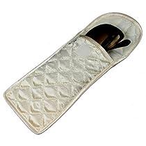 Soft Eyeglass Case/Pouch, Velcro Flap Closure, Satin Fabric