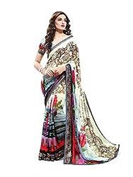 Reveka Multicolor Georgette Printed Saree