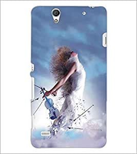 SONY XPERIA C4 MUSIC GIRL Designer Back Cover Case By PRINTSWAG