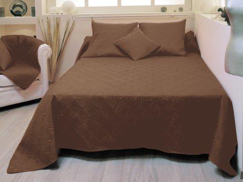 paringda soleil d 39 ocre couvre lit matelass r versible suzanne chocolat 220x240 cm. Black Bedroom Furniture Sets. Home Design Ideas