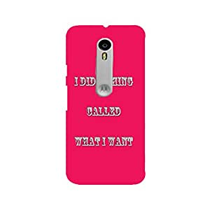 Moto Xplay Perfect fit Matte finishing Motivational Quotes Typography Mobile Backcover designed by Abaci(Red)
