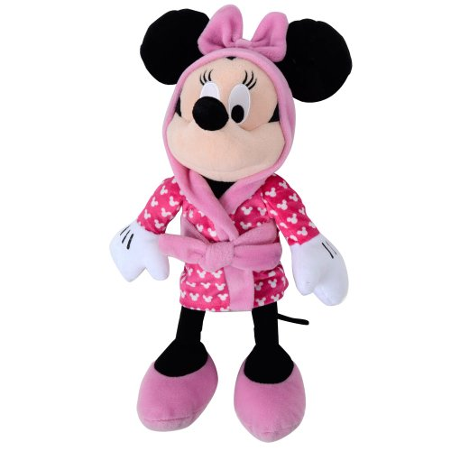 Minnie Mouse In Pink Dressing Gown Soft Toy 12""