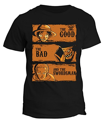 Tshirt The Good,the bad the swordsman One Piece - in cotone by Fashwork