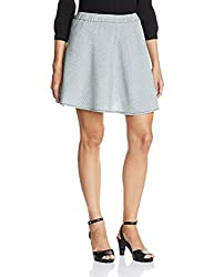People Women's Asymmetric Skirt (P20402064982252_Indigo Striper_L)