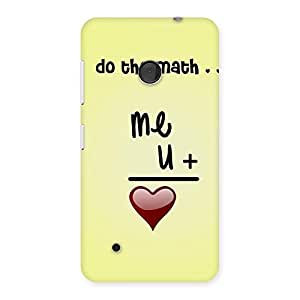 Delighted Love Maths Back Case Cover for Lumia 530