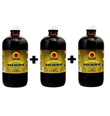 Jamaican Black Castor Oil 8oz with FREE Applicator (Pack of 3)
