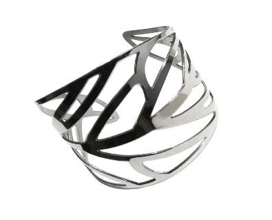 Goldmajor adult stylish stainless steel cuff Bangle Bracelet height 6.8 cm ladies [parallel import goods]