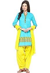 Soundarya Ethnicwear Cotton Free Size Patiala Salwar with Dupatta for Women (PAT10)
