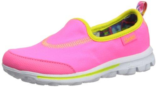 Skechers Girls GOWalk Lightweight Slip on Sneakers-NeonPink/