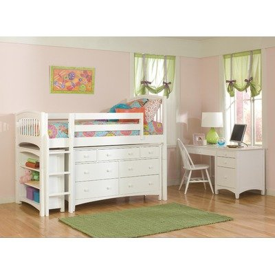 Low Loft Bed With Storage 170260 front
