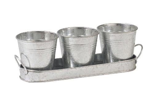 set-of-three-3-metal-garden-herb-plant-flower-pots-on-galvanized-zinc-tray