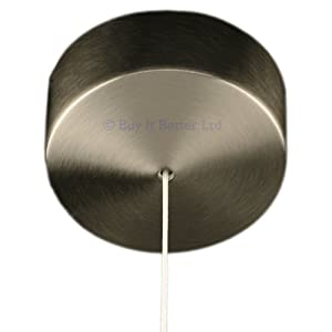 Brushed Steel Covered Bathroom Ceiling Light Pull Switch With Cord
