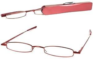I-Mag Mini Slim Metal Spring Hinge Reading Glasses with Slide Open Hard Case