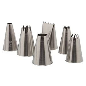Ateco 6-Piece Pastry Tube and Tips Set