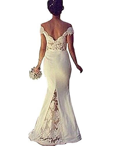 Jubileens-Womens-Double-V-neck-Off-Shoulder-Lace-Mermaid-Wedding-Gown-Dresses
