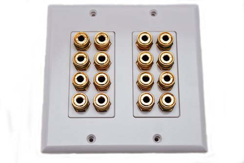 Speaker Wall Plate 16 Post For 8 Speakers Dolby Sound