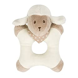 Nattou Cappuccino Collection Ringrattle Lamb